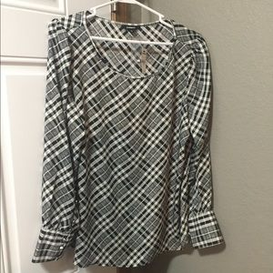 Express Grid Blouse